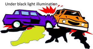 car crash black light