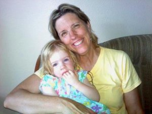 My Mom and niece.  They are not nanoparticles.