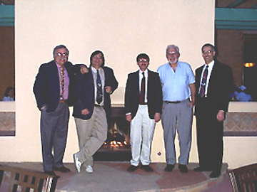 Heini (2nd from right) and myself (middle) in a photo taken a while ago when we were serving on an advisory committee together.