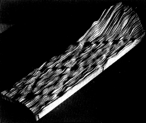 This is THE photograph of the individual stacked sheets of paper from the original publication.Reprinted figure with permission from G. Binnig, H. Rohrer, Ch. Gerber, E. Weibel, Physical Review Letters, 5, 120, 1983. Copyright 1983 by the American Physical Society.Readers may view, browse, and/or download material for temporary copying purposes only, provided these uses are for noncommercial personal purposes. Except as provided by law, this material may not be further reproduced, distributed, transmitted, modified, adapted, performed, displayed, published, or sold in whole or part, without prior written permission from the American Physical Society.