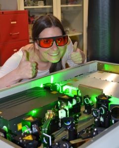 This is me with our laser!