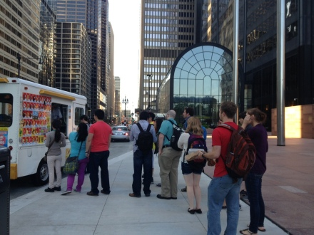 Ice Cream Truck & scientists from Murphy group