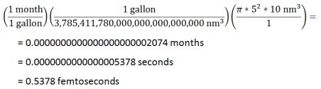 nanobarrel calculation