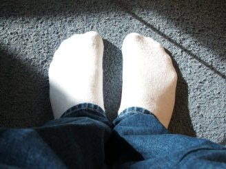 Do these socks contain silver nanoparticles or don't they? There's no way to tell just by looking at them. Image source.