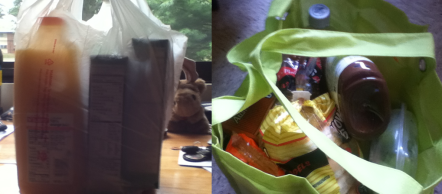 Good thing reusable plastic bags are a green option. I like bags that can hold a lot of items.