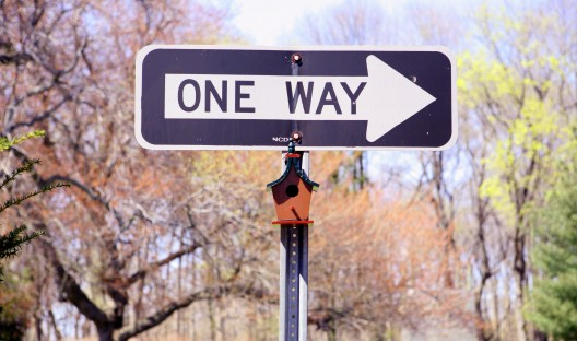 2 One way sign