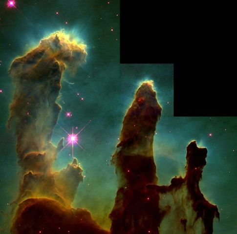 Horsehead Nebula as imaged by the Hubble space telescope. Image courtesy of NASA.