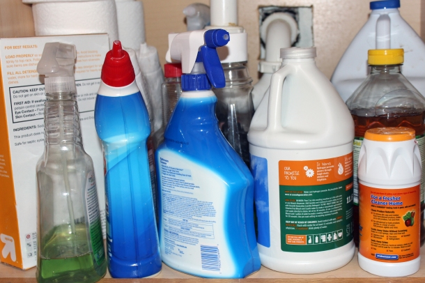 What would we put in the space under our kitchen sink if we didn't need cleaning chemicals??