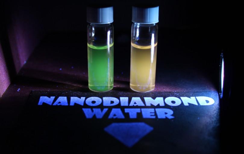 3 - Fluorescing Nanodiamond Water