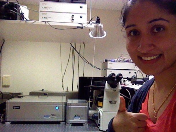 A selfie with the fluorescence correlation spectroscopy instrument!
