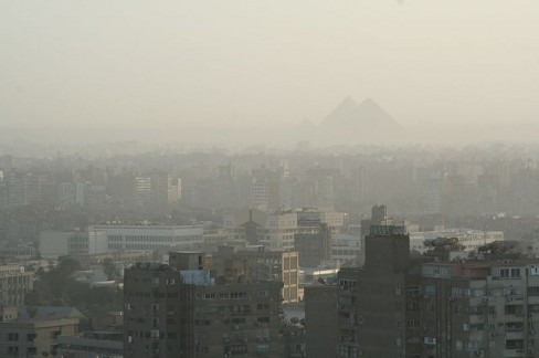 Cairo on a low-smog day. Still lots of smog. Image source.
