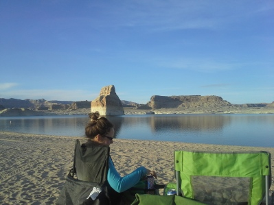 Camping with my beautiful wife, Gwen, at beautiful Lake Powell near the Utah-Arizona border.  Little did we know that triclosan was likely lurking in those beautiful blue waters.