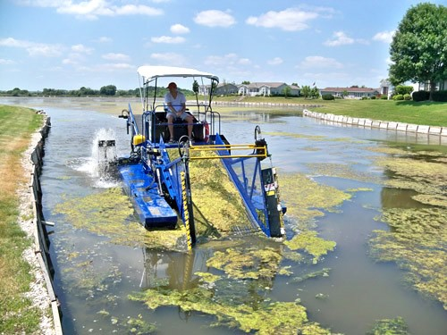 Algae Harvesting. Image By Aquaticweedharvester