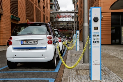 parked electric cars
