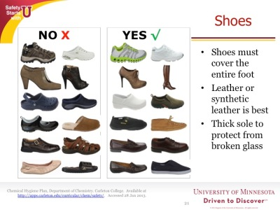 Safety moment example about footwear
