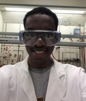 the author in lab