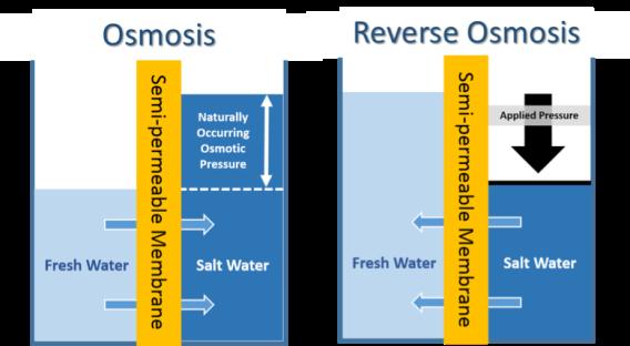 diagram of osmosis & reverse osmosis