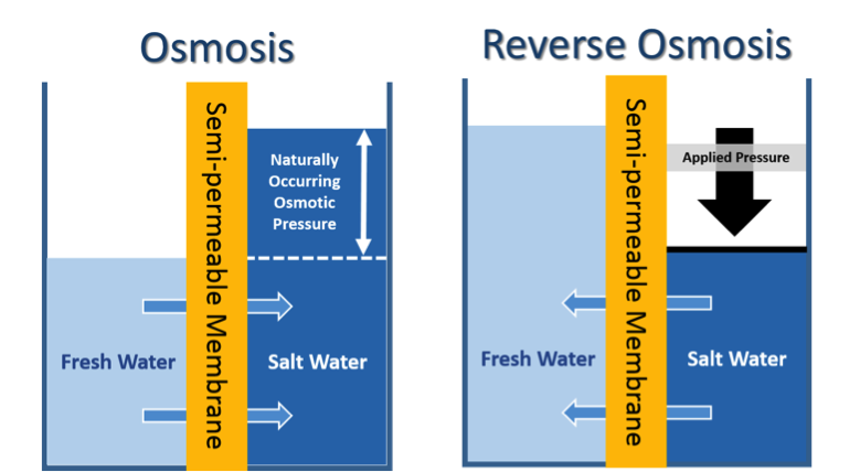 diagram of osmosis & reverse osmosis