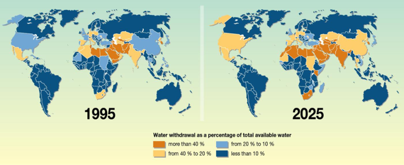 Global map of freshwater stress