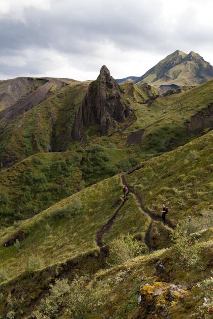 hiking, mountain