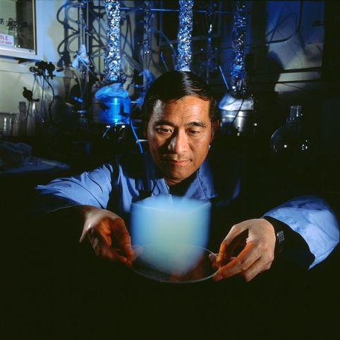 scientist & aerogel