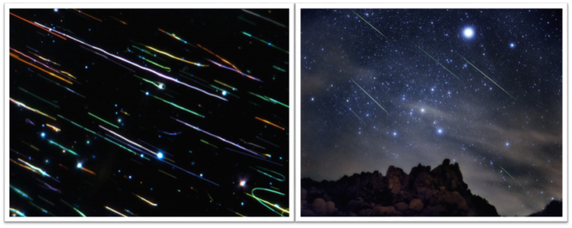 nano and macro meteor showers