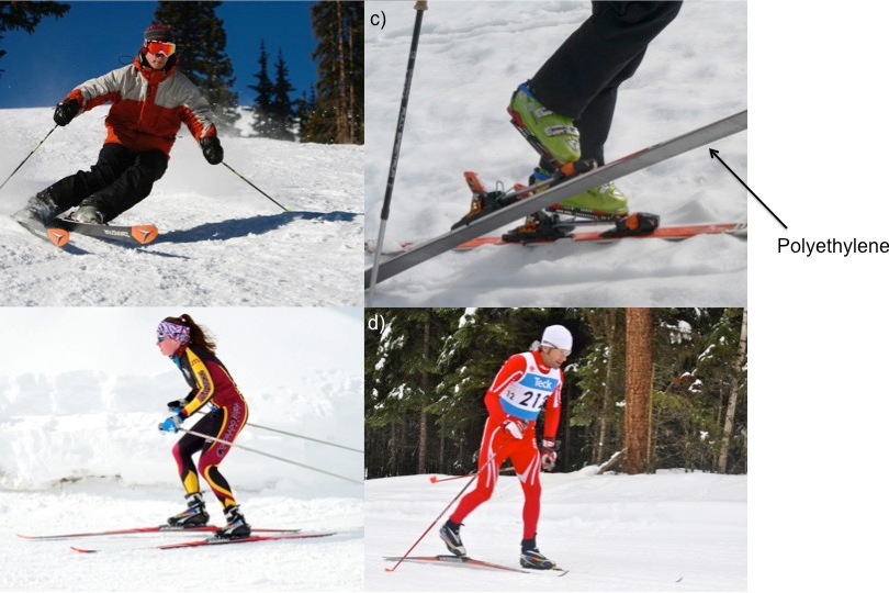 different types of skiing