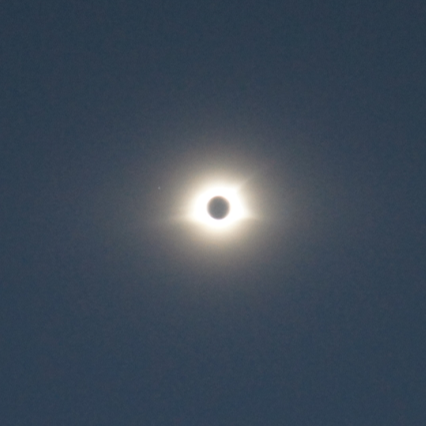 Totality view at Oak Ridge National Laboratory in Tennessee (image by Xiaoming Liu)