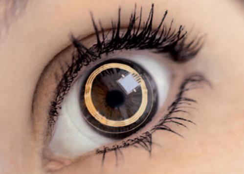 How can graphene nanotechnology improve smart contact lenses